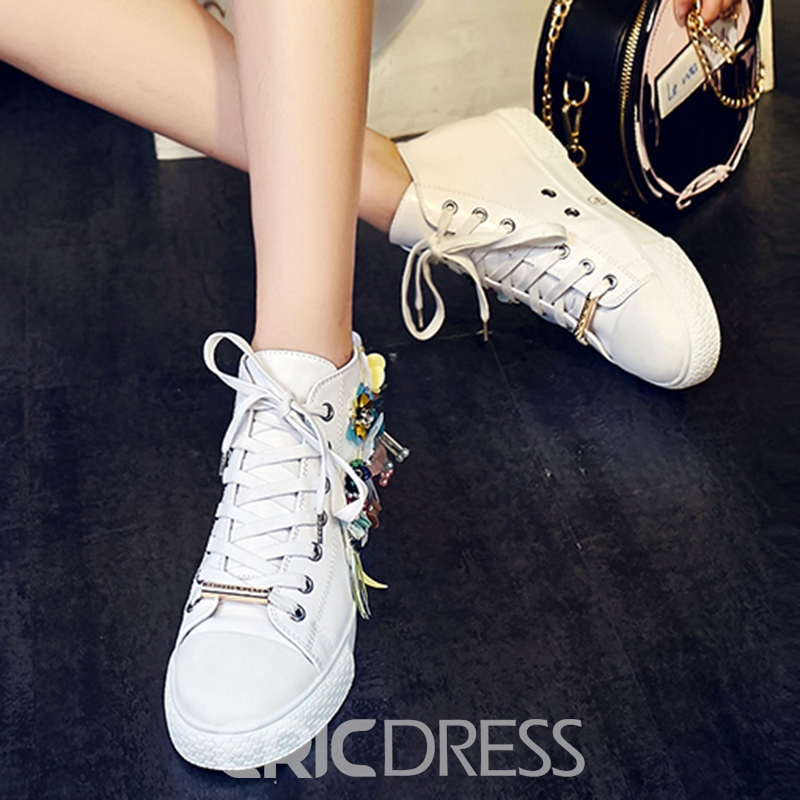 Ericdress Luxurious Rhinestone Decorated White Shoes