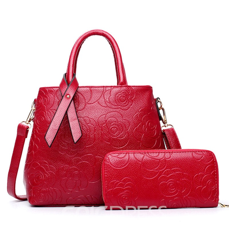 Ericdress Chinese Style Rose Embossing Handbags(2 Bags)