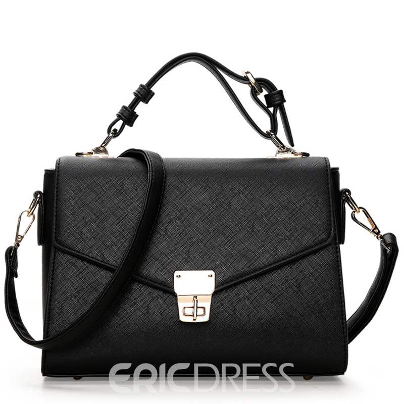 Ericdress Leisure Cross Pattern Twisted Lock Shoulder Bag