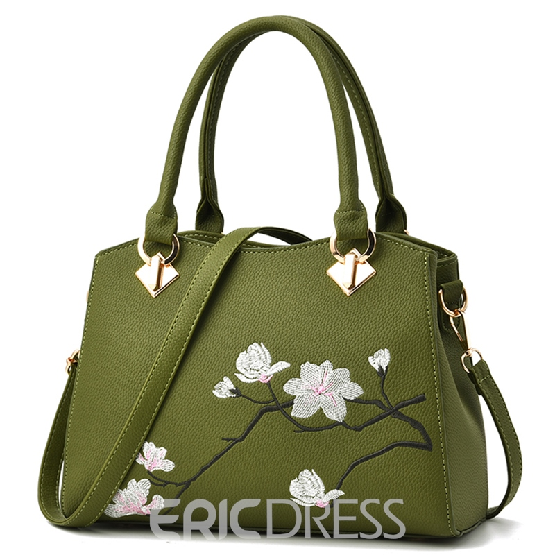 Ericdress Retro Floral Blooming Print Handbag