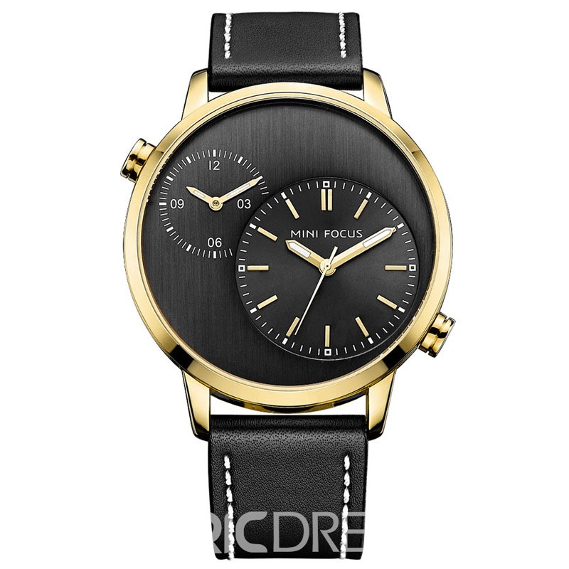 Ericdress JYY Classic Two-Movement Dual Time Hour Men's Watch