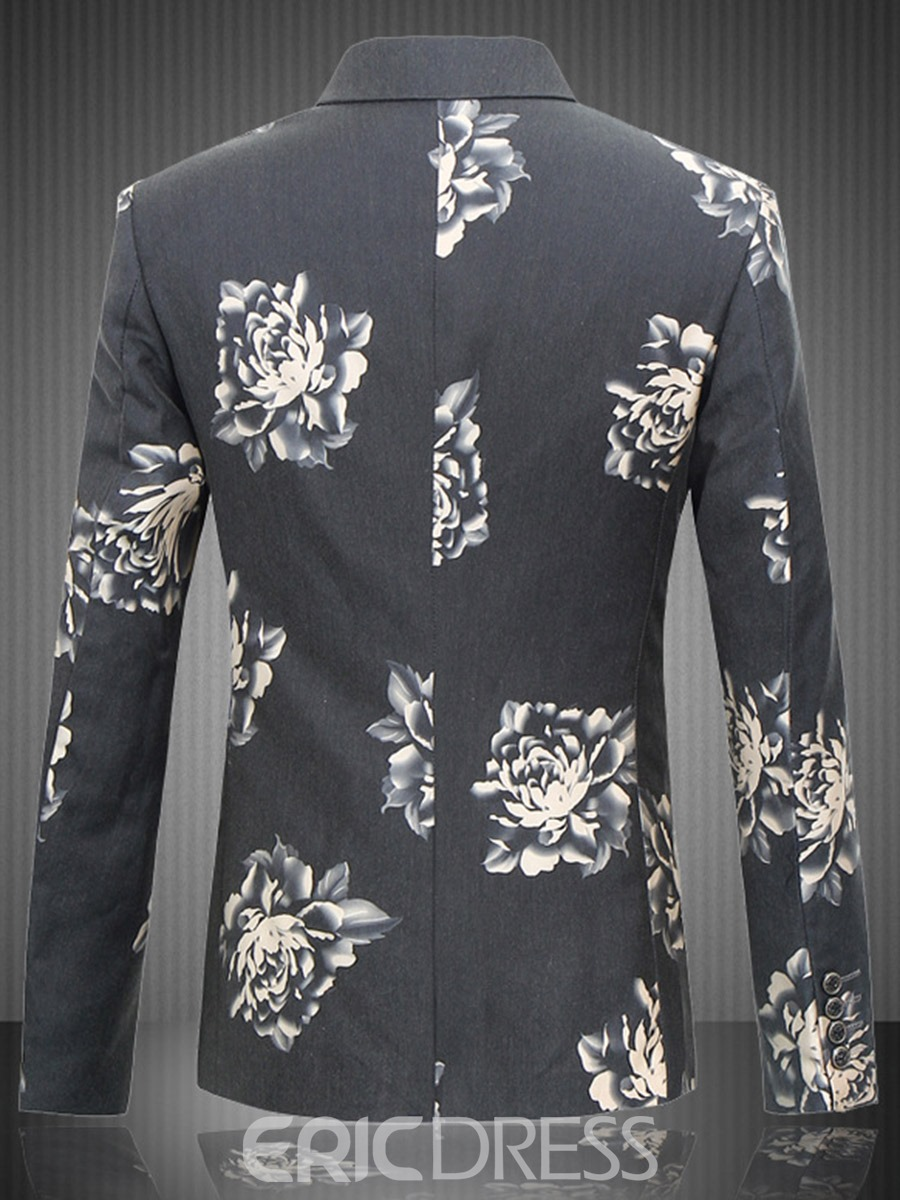 Ericdress Plus Size Print Men's Blazer