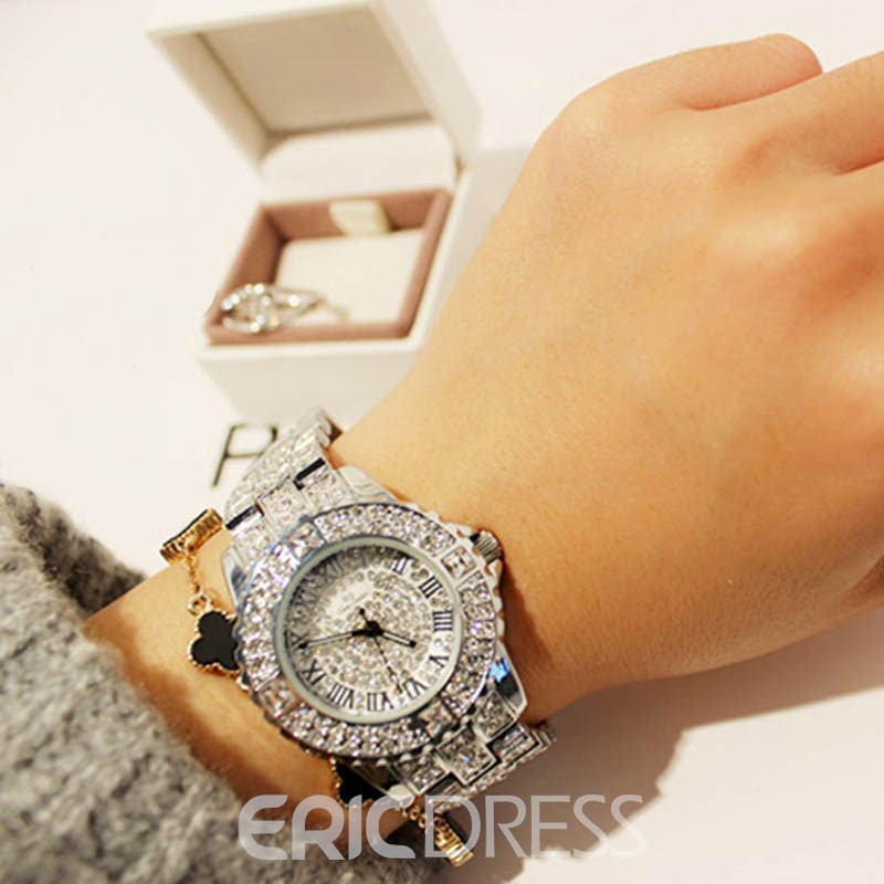 Ericdress Stunning Full Rhinestone Vintage Watch for Women