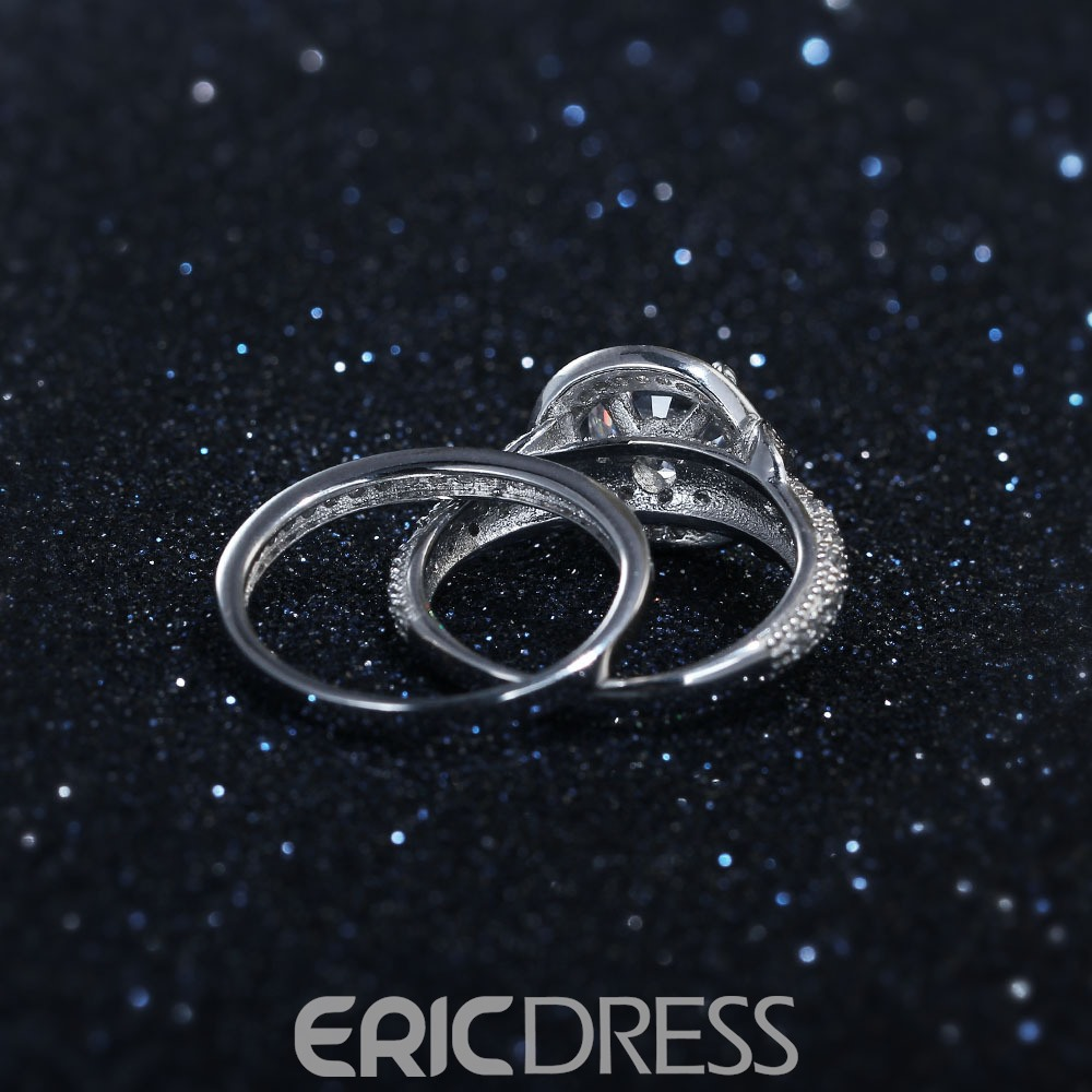 Ericdress Hot Round Cut Created White Sapphire Bridal Sets