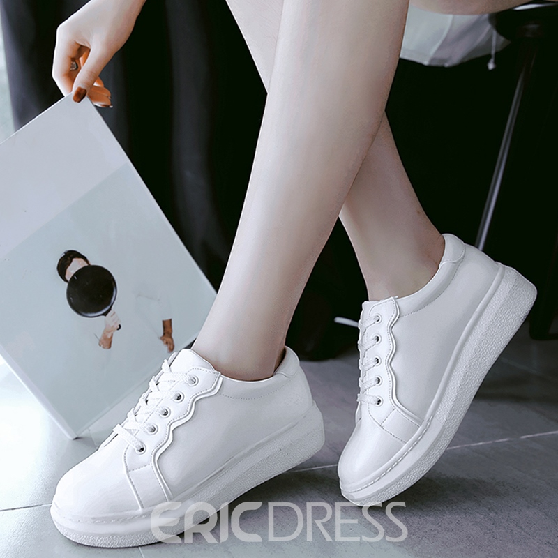 Ericdress Special Color Block Lace up Sneakers