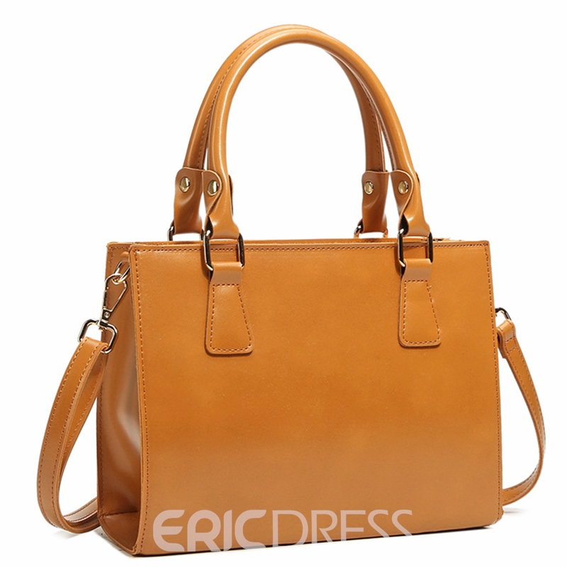 Ericdress Candy Color Thread Decorated Handbag