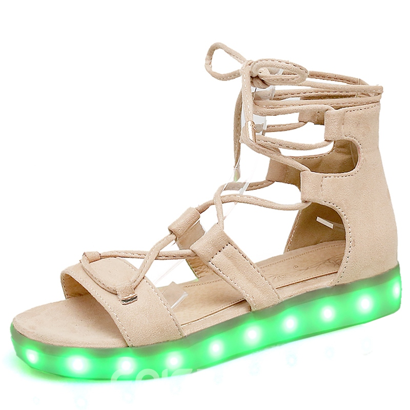 Ericdress Fashion LED Cross Strap Flat Sandals