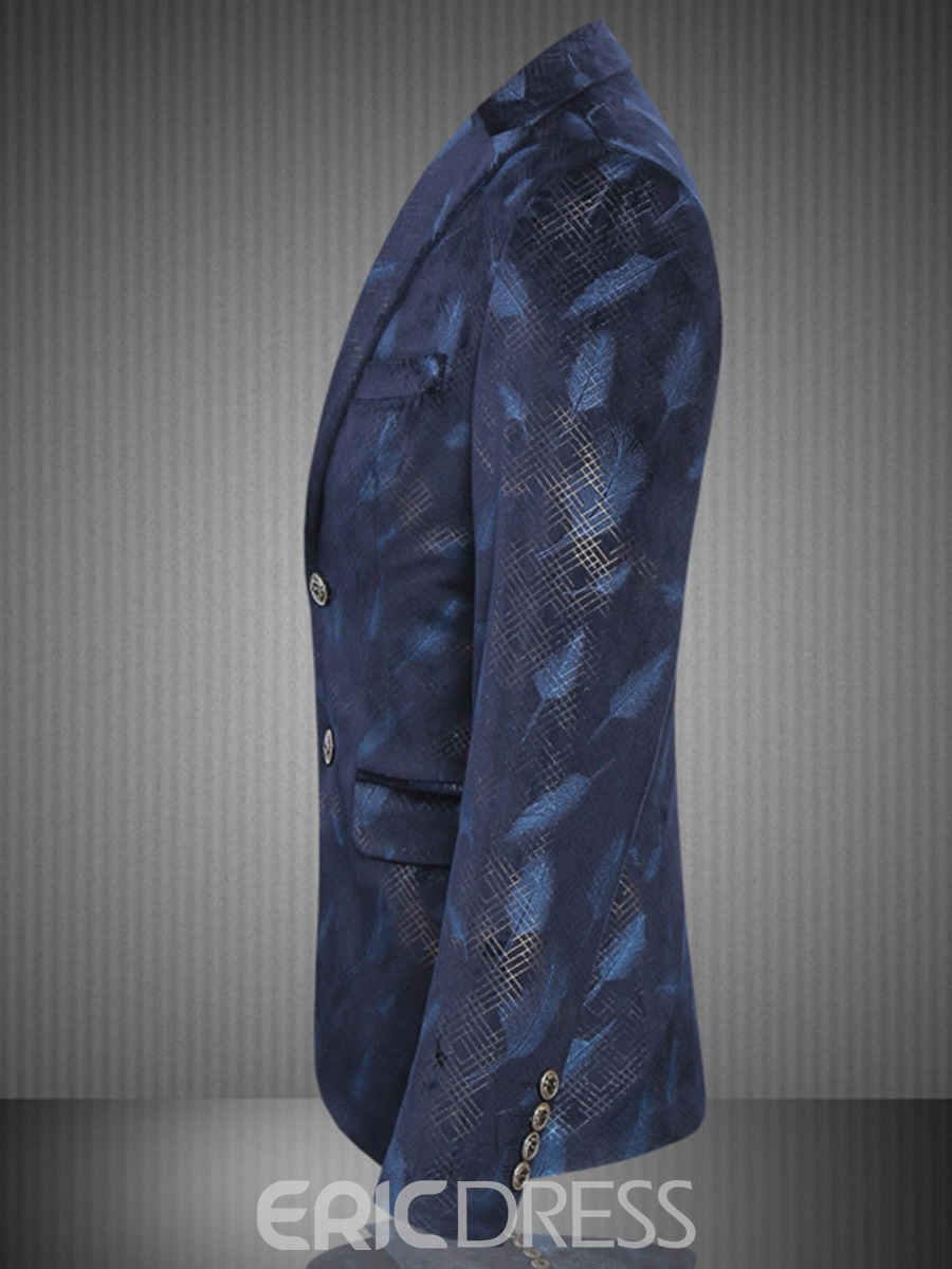 Ericdress Casual Plus Size Single-Breasted Men's Blazer