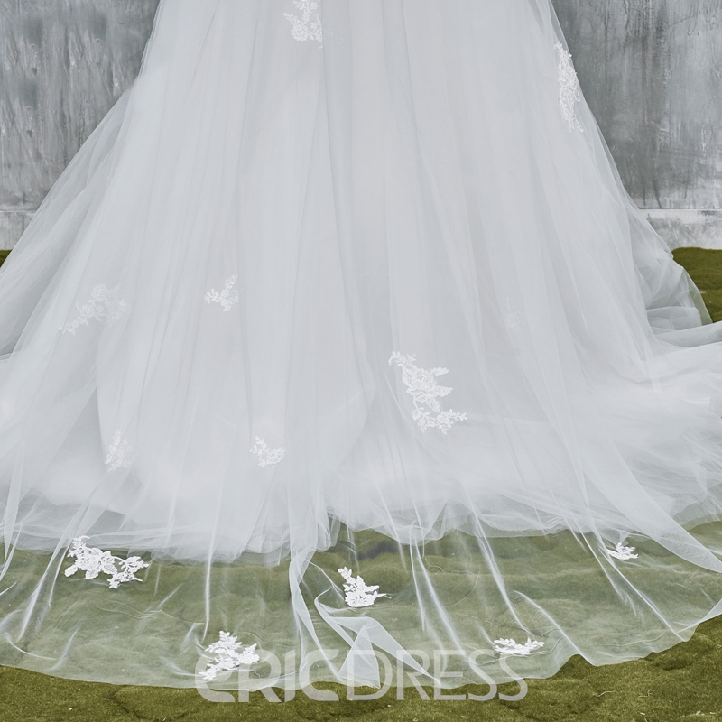 Ericdress Gorgeous Tulle Applique 2T Long Bridal Veil