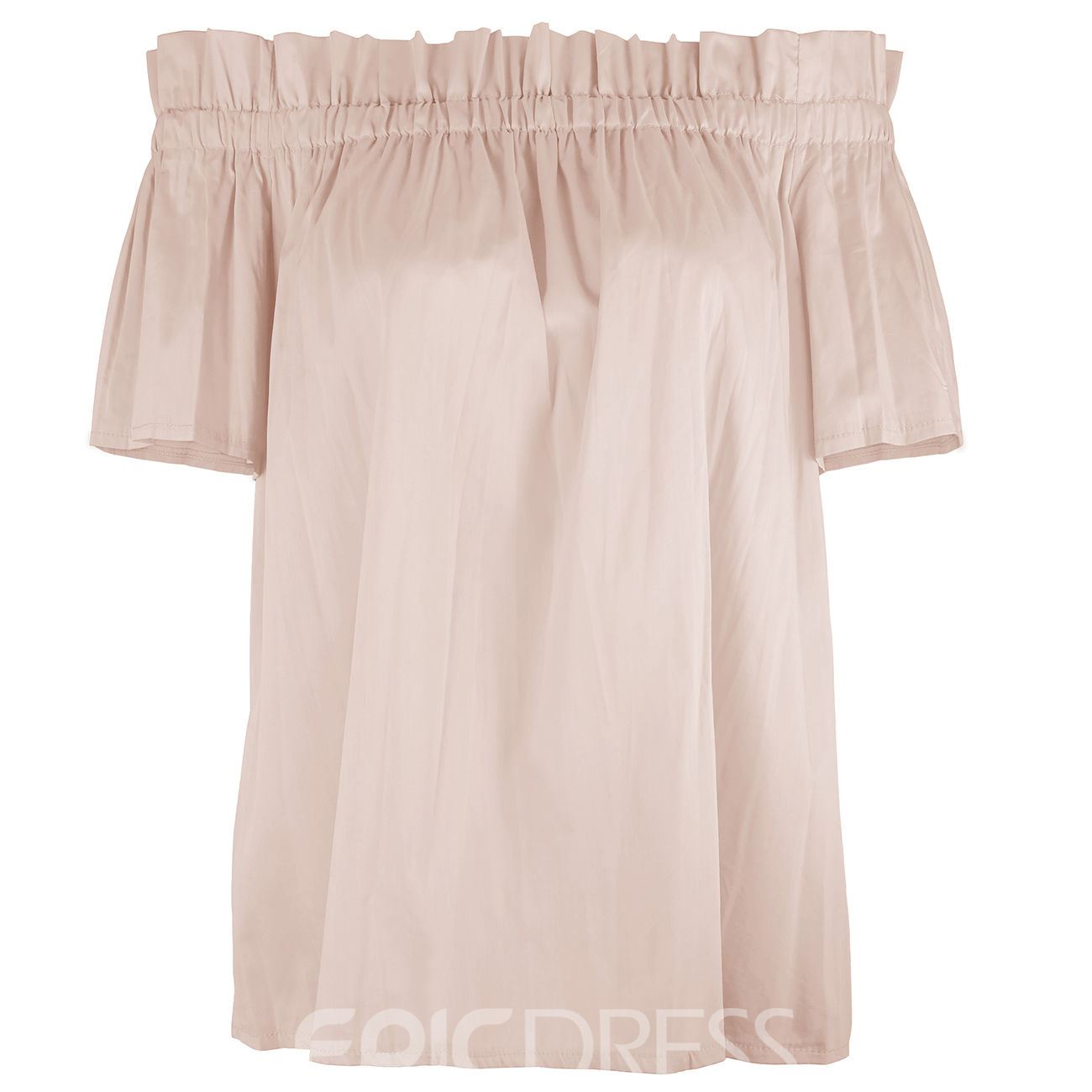 Ericdress Off-Shoulder Pleated Loose Blouse