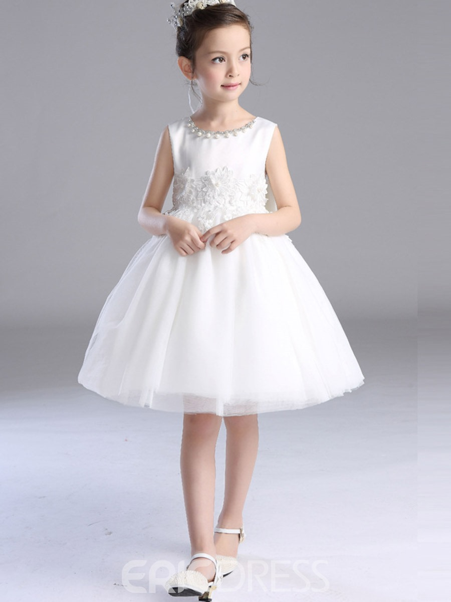 Ericdress Lace Patchwork Sleeveless Ball Gown Princess Dress With Bow