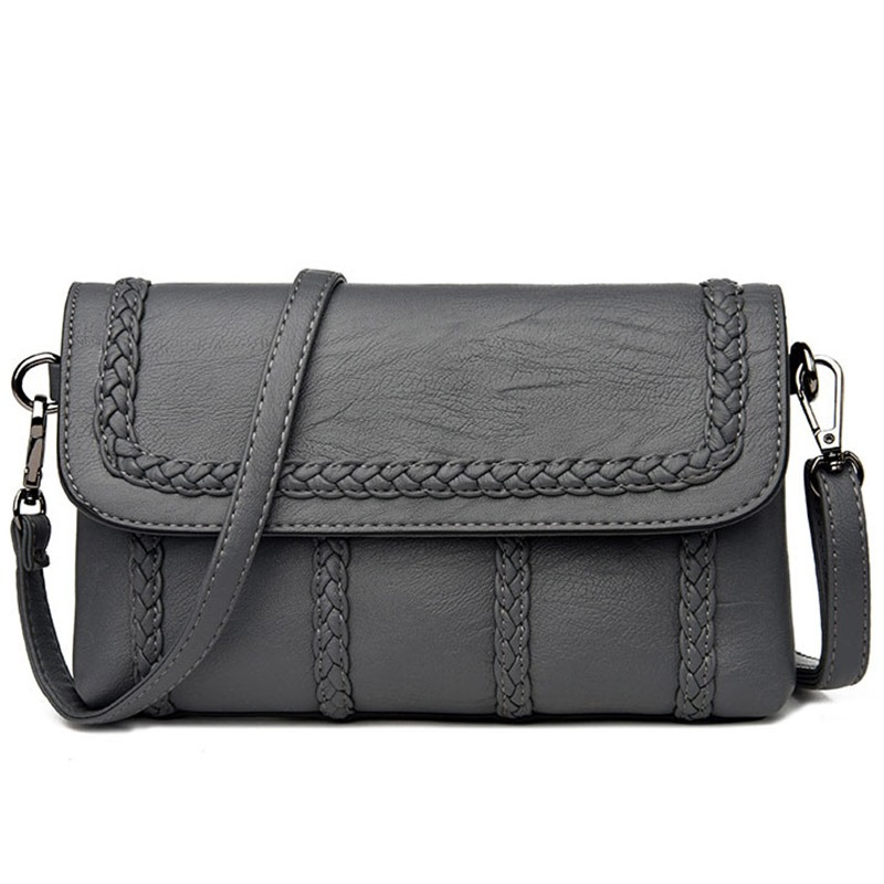 Ericdress Graceful Knitted Lambskin Crossbody Bag