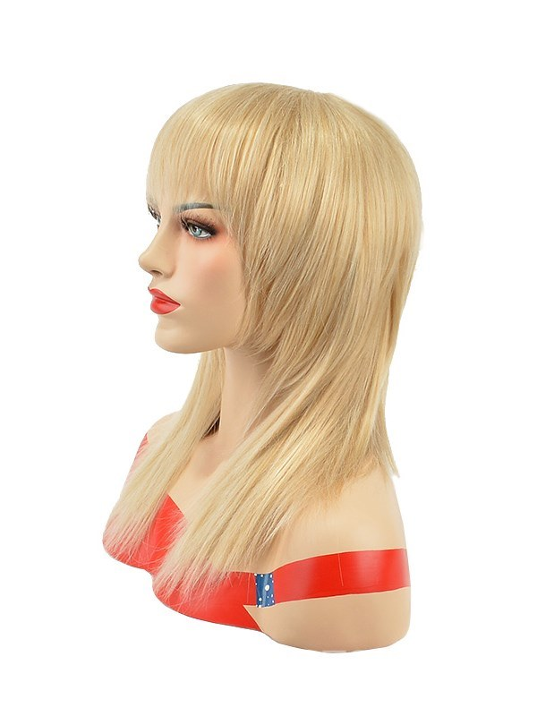 Ericdress Layered Straight Natural Synthetic Hair Wigs with Bangs 14 Inche