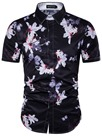 Ericdress Short Sleeve Flower Print Men's Shirt