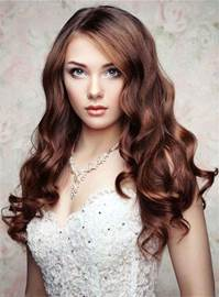 Ericdress Natural Long Wavy Lace Front Cap Synthetic Hair Women Wigs 22 Inches