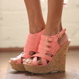 Ericdress Buckle Platform Wedge Heel Sandals