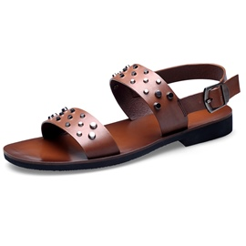 Ericdress Leather Buckle Rivets Men's Sandals