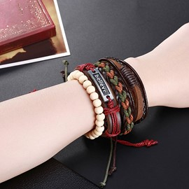 Ericdrss Punk Style Vingtage Leather Bracelet