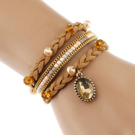 Ericdress Fashionable Kniting Rhinestone Pendant Bracelet
