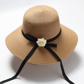 Ericdress All Match Flower Decorated Women's Sunhat