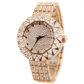 Ericdress Fully-Jewelled Waterproof Quartz Watch