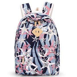 Ericdress Starfish Print Canvas Backpack