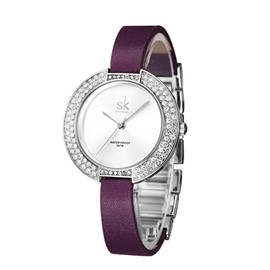 Eridress Fashionable Diamante Case Waistwatch