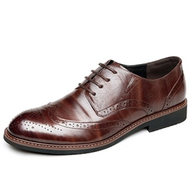 Ericdress Leather Sewing Carved Men's Shoes