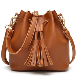Ericdress Casual Tassel Draw String Shoulder Bag