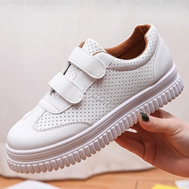 Ericdress Concise Velcro White Shoes