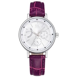 Eridress Round Case Quartz Movement Women's Watch