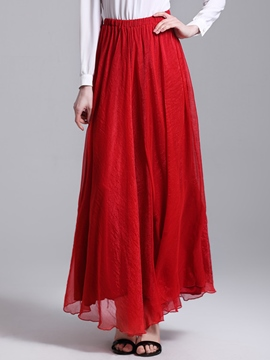 Ericdress Full-skirted Pure Color Women's Skirts