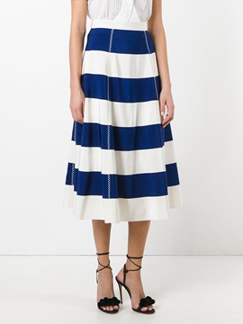 Ericdress Stripe Mid-Calf Women's Skirt