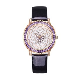 Ericdress Diamante Flower Pattern Fashionable Watch