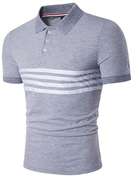 Ericdress Short Sleeve Stripe Polo Casual Men's T-Shirt