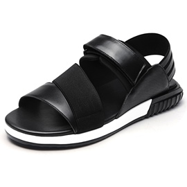 Ericdress Leather Patchwork Velcro Men's Sandals