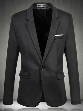 Ericdress Plain Pocket Casual Men's Blazer