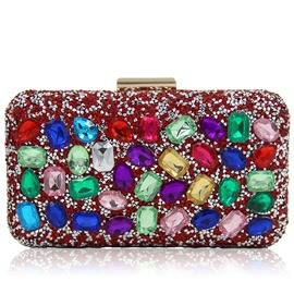 Ericdress Colorful Rhinestone Magnetic Snap Evening Clutch