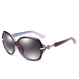 Ericdress Stylish Big Frame Diamante Sunglass