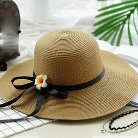Ericdress Bowtie Ribbon Foldable Sunhat for Holiday