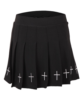 Ericdress Halloween Costume Plain Pleated Embroidery Skirt