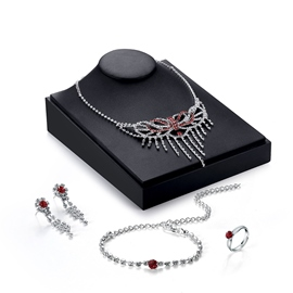 Ericdress Diamante Tassel Design Butterfly Jewelry Set