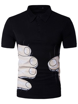 Ericdress Short Sleeve Finger Print Men's T-Shirt