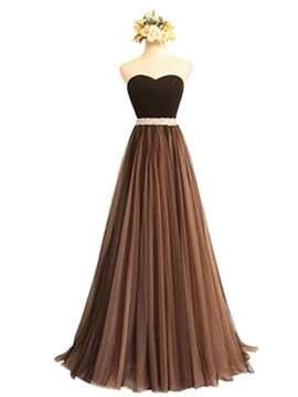 Ericdress A-Line Strapless Sweetheart Formal Bridesmaid Dress