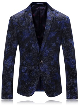 Ericdress One Button Vogue Floral Men's Blazer