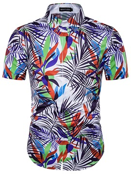 Ericdress 3D Casual Print Short Sleeve Men's Shirt