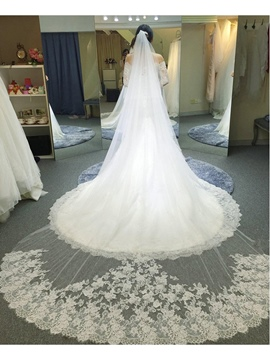 Ericdress Luxury 1T Cathedral Length Wedding Veil