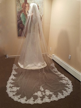 Ericdress 1T Lace Edge Wedding Cathedral Veil
