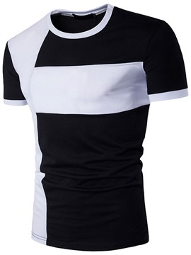 Ericdress color bloque casual hombres camiseta