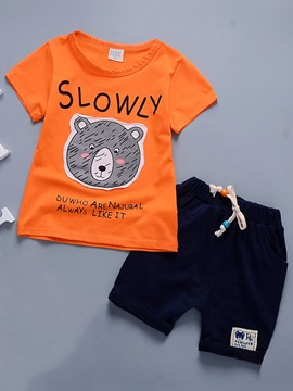 Ericdress Graphic-Print T-Shirt Shorts Casual Boys Outfit